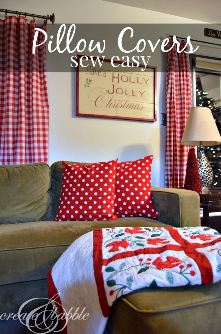 Easy Sew Christmas Pillow Cover Pillow Covers Christmas
