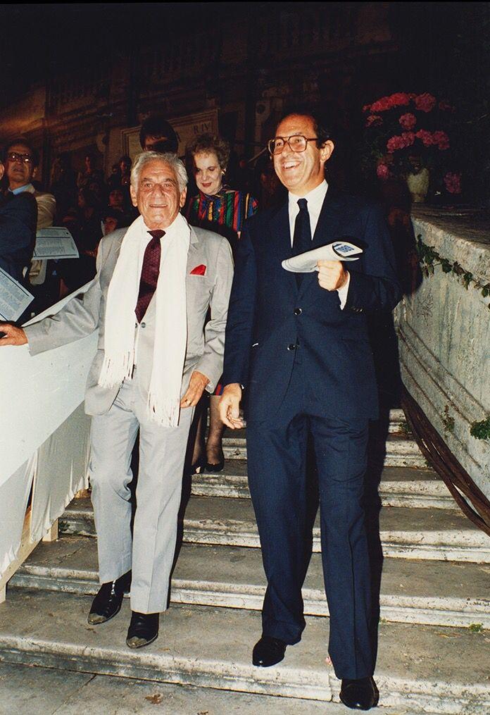 Leonard Bernstein & Guglielmo Battistoni
