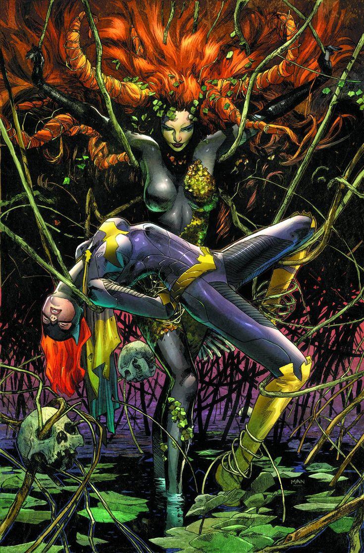 Poison Ivy Vs Batgirl By Clay Mann  Nerd  Pinterest -9232