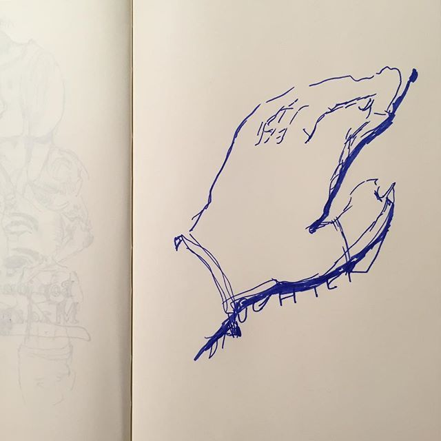 "ayaenomura2017/09/08 ねむたい ""Too Sleepy"" ' ' #art #drawing #doodle #artwork #artoftheday #artlife #illust #illustration #instart #instadraw #instaartist #illustagram  #アート #イラスト #スケッチ #デッサン #ペン画 #ayaenomura #nofilter #moleskine #moleskine_arts #モレスキン #青 #インク #ink #手 #hand2017/09/08 22:28:40"