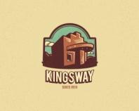 Kingsway #2 - Vintage Badge Logo - logopond.com