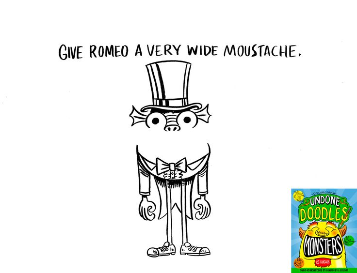 25 best Undone Doodles - Color & Draw Monsters! Book Available on ...
