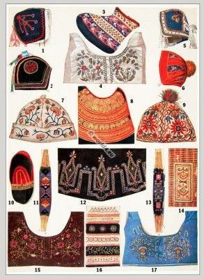 Embroidery designs from France National Costumes.