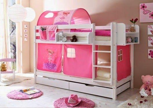 10 Diseños de Camas Camarote o Literas para el  Dormitorio de Niñas