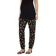 Red Herring Maternity Black tropical print maternity trousers | Debenhams