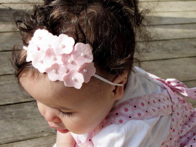 felt Hydrangea headband
