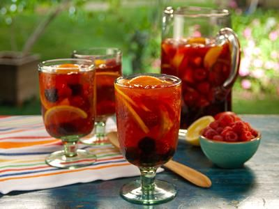 Happy Hour Happens: Sangria Summer Nights: Happy Hour, Sparkle Lemonade, Food Network, Rose Sangria, Rose Punch, Punch Recipes, California Rose, Summer Night, Bobby Flay Recipes