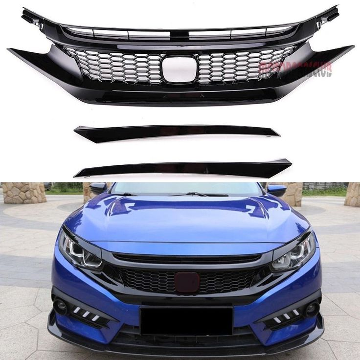 Front Bumper Grill Type R Style ABS Plastic