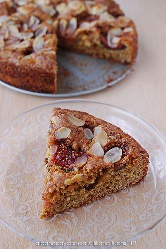 Fig and almond little cake - Pastel de higos y almendras