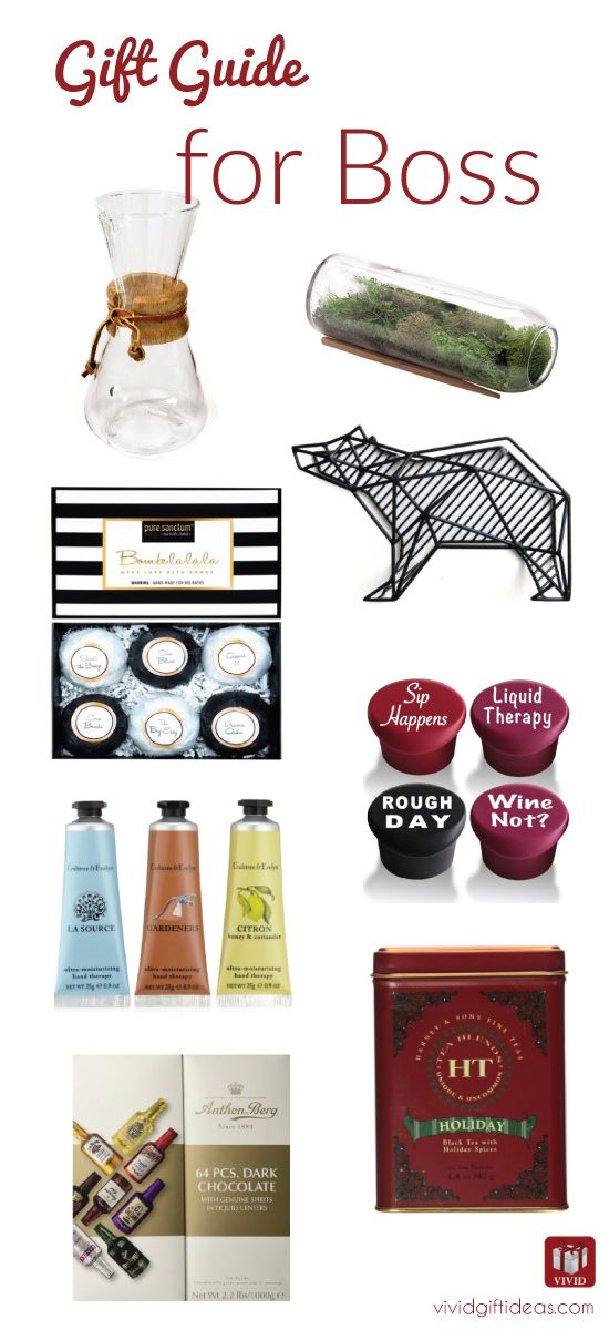 wondering what are the appropriate gifts for boss? Here are 7 ideas that you can get for your boss. from office supplies, office decor, food and more. All under $50. Workplace gift guide for boss, female and male. professional and fun. Great for Christmas too!