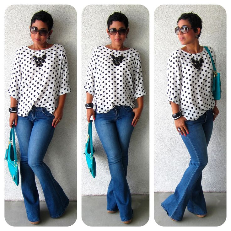 Todays Look: Polka Dots + AnnouncementThings Fashion, Dots Announcements, Polka Dots, Wide Legs Jeans Outfit, Polkadot, Fashion Sewing, Mimi Style, July 2012, Wear