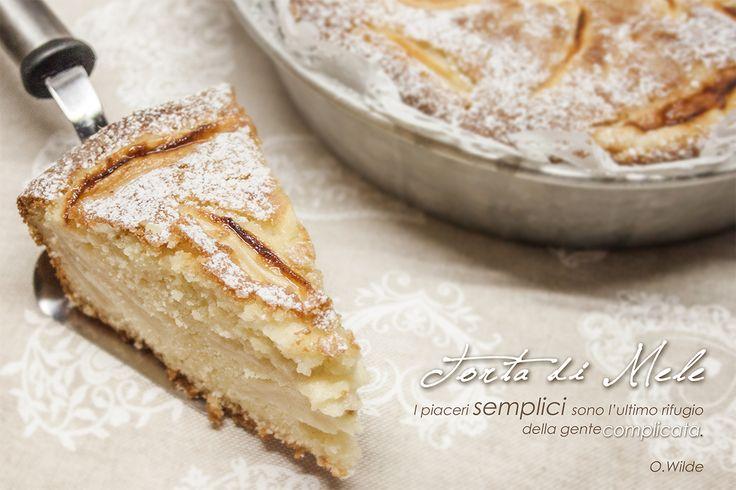 Torta di mele - ricetta semplice http://blog.giallozafferano.it/laziatata/torta-di-mele-ricetta-semplice/