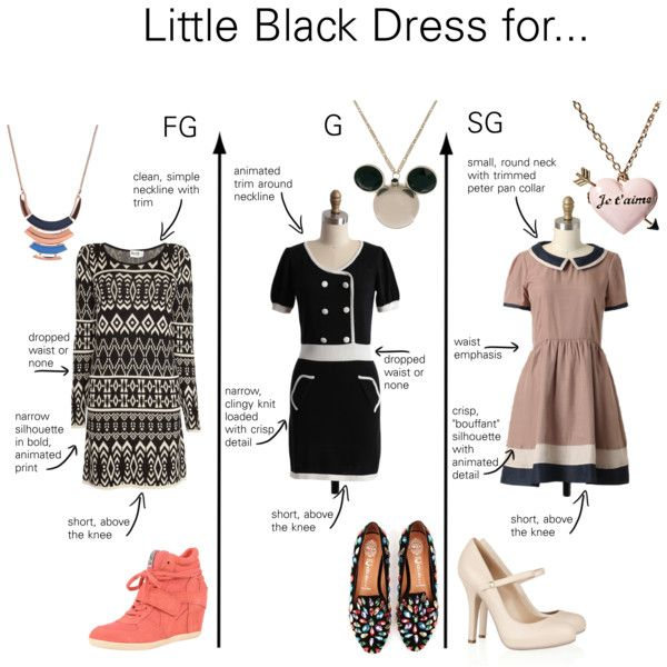 """""""Little Black Dresses for Gamine Types"""" by thewildpapillon on Polyvore"""