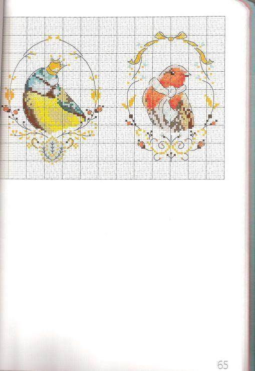 (17) Gallery.ru / Фото #58 - Les oiseaux a broder au point de croix - Marina-Melnik