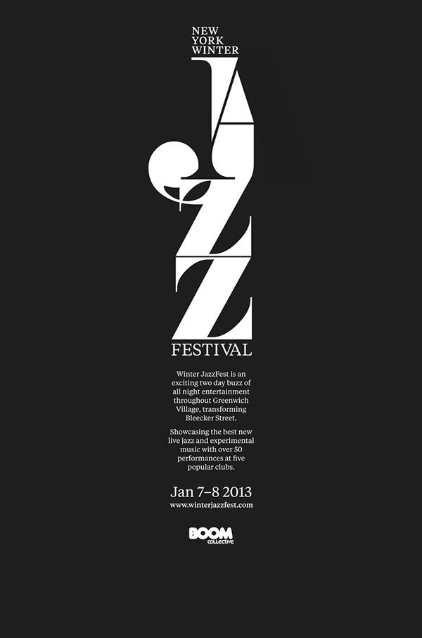 Le jeu typographique et les contrastes font de cette affiche une réussite #poster #typographic