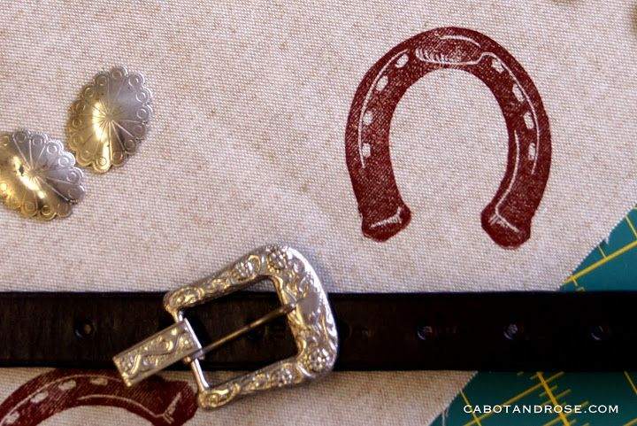 Spring 2014 Horseshoe block print on cotton from Cabot and Rose - Picasa Web Albums
