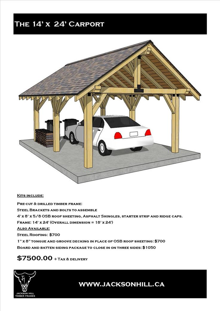 25 best ideas about timber frame garage on pinterest for Timber carport plans