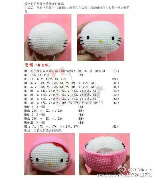 Mejores 78 imágenes de Crochet - Hello Kitty en Pinterest   Bordado ...