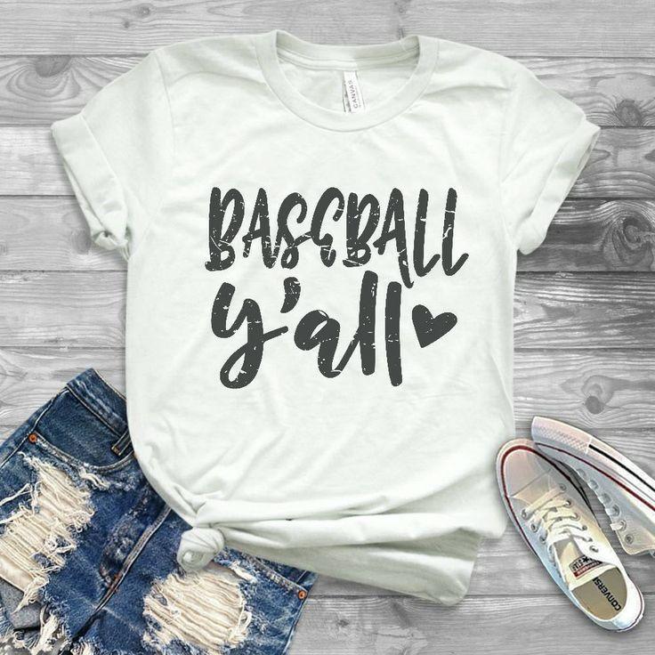 Baseball Y'all T-shirt, Baseball T-shirt, Baseball Mom, Baseball Mom shirt, Baseball shirt, Customized baseball T- shirts, Bulk Shirts by TanyasCricutBoutique on Etsy