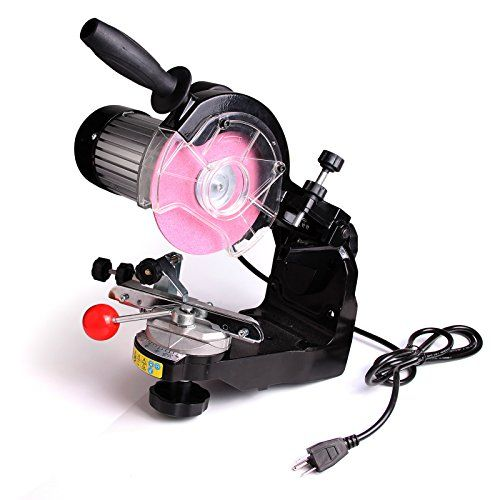 Electric Chainsaw Sharpener Grinder w/ Grinding Wheels 1/...