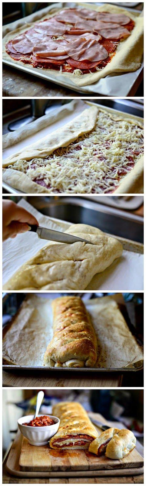Homemade Stromboli - kitchenclouds