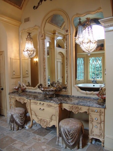 European French Bath Interior Design Atlanta Photo Gallery