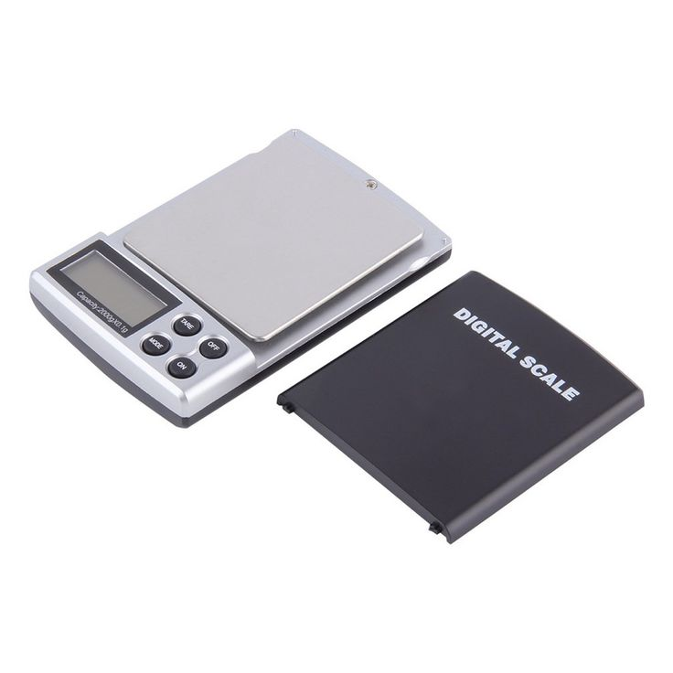 LESHP Auto Power off 2000G/0.1 Digital Pocket Scale, Jewelry Weight Balance Scale, Precision LCD with Optional Backlight, Black+Silver