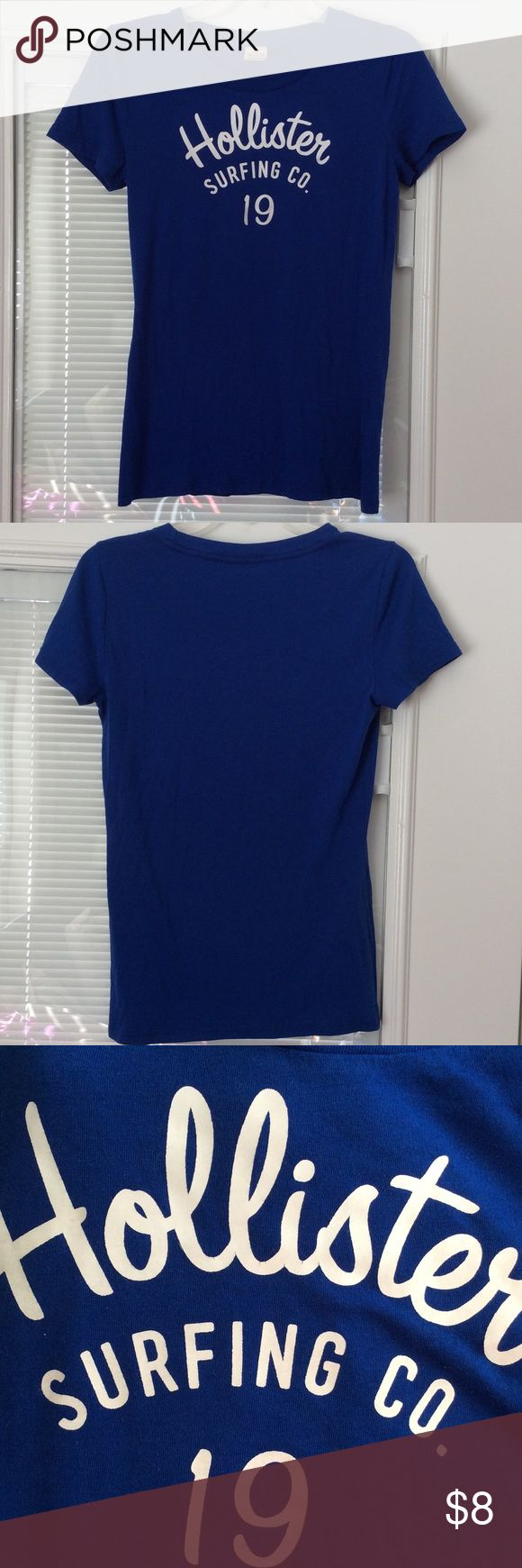 ‼️Buy 2 get 1 FREE‼️ Royal blue tee, great condition. Does have some piling. Hollister Tops Tees - Short Sleeve