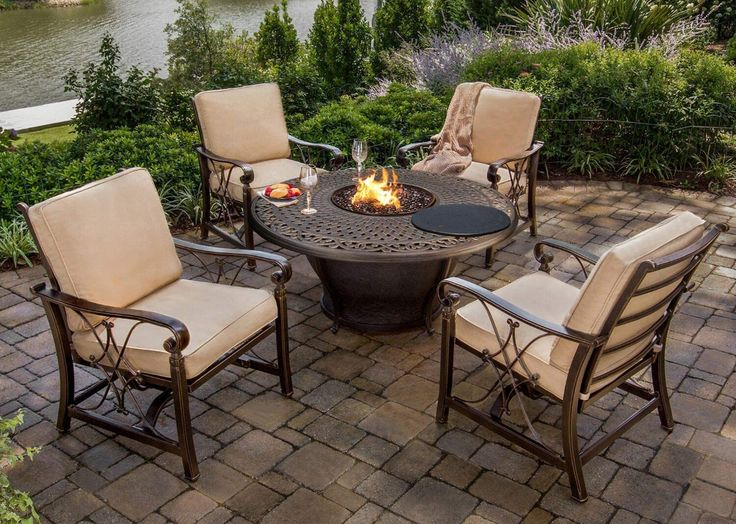 Amazon.com : CC Outdoor Living 5-Piece Round Cast Aluminum ... on Cc Outdoor Living id=35173