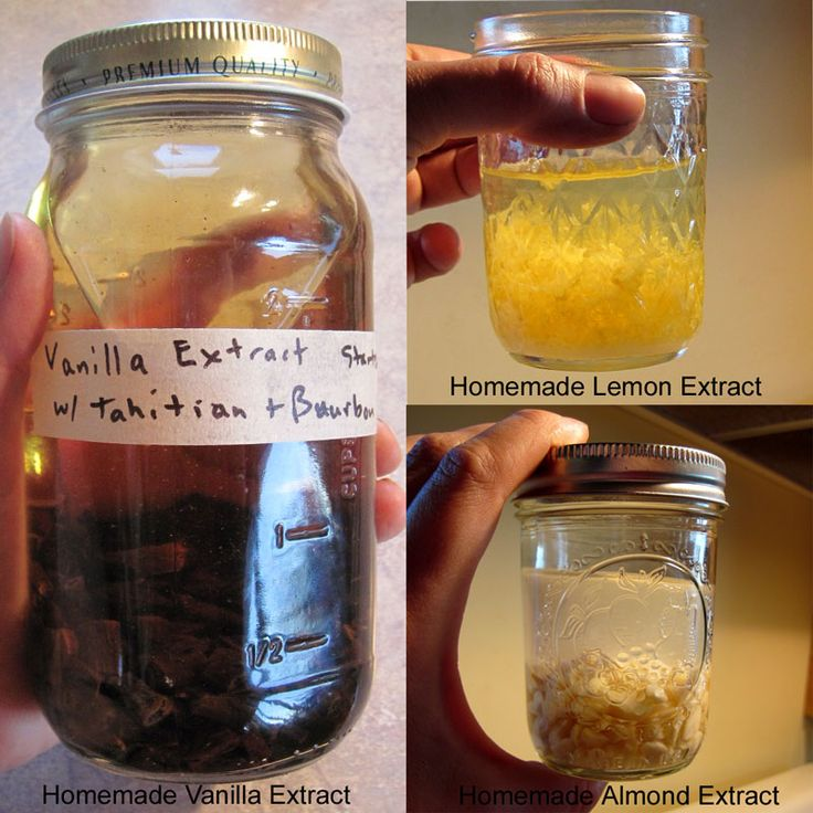 How to Make Homemade Extracts (vanilla, almond, and lemon) @ Common Sense Homesteading
