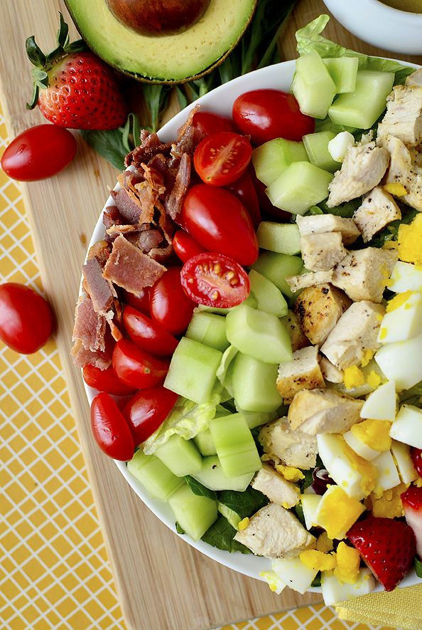 Love this take on Cobb Salad. Fresher. Lighter. California Cobb Salad with Tarragon Vinaigrette  - I won't be doing bacon, but the rest is a big YES for me.