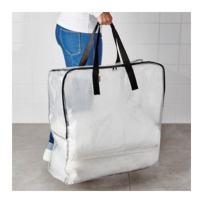 QUICK SHIP IKEA DIMPA STORAGE BAG CLEAR PROTECTS CONTENTS AGAINST MOISTURE