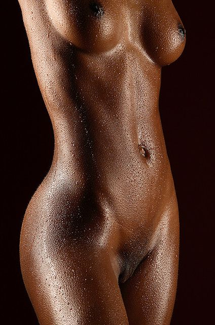 Ebony female body naked