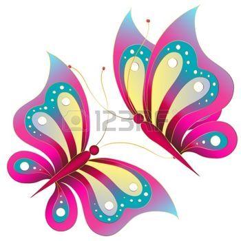 papillon dessin: papillons, vecteur