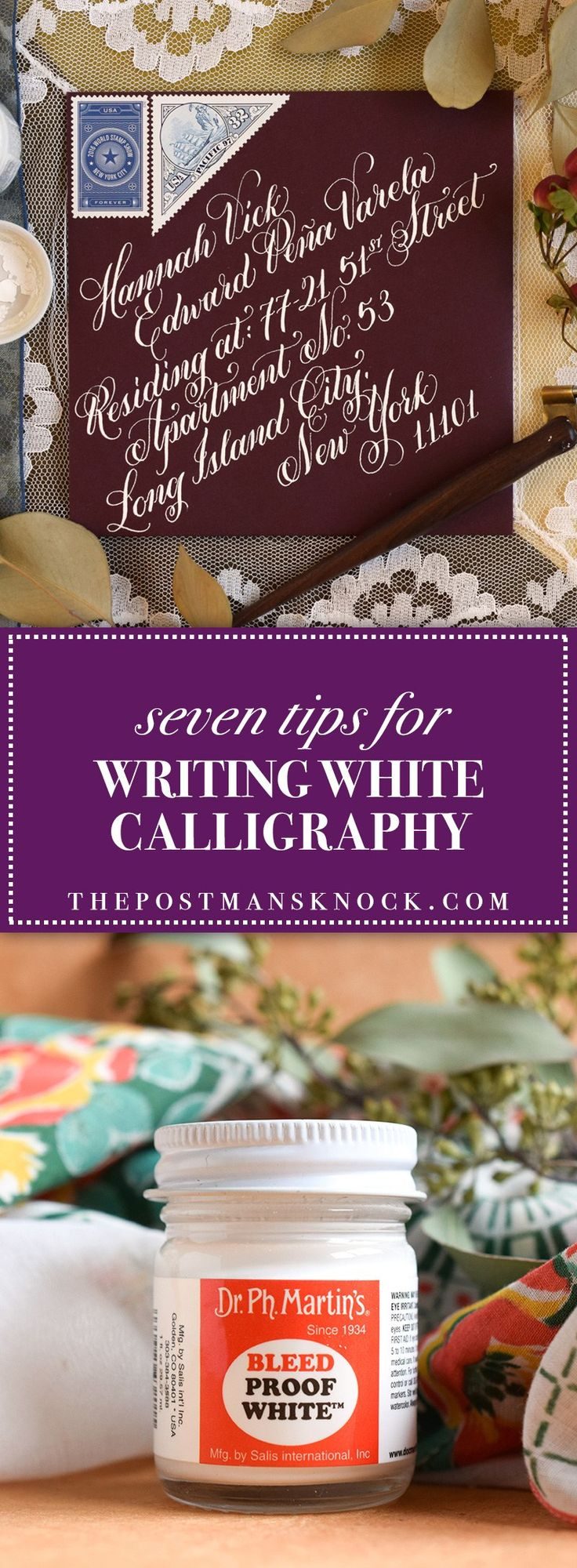 Seven Tips for Writing White Calligraphy | The Postman's Knock