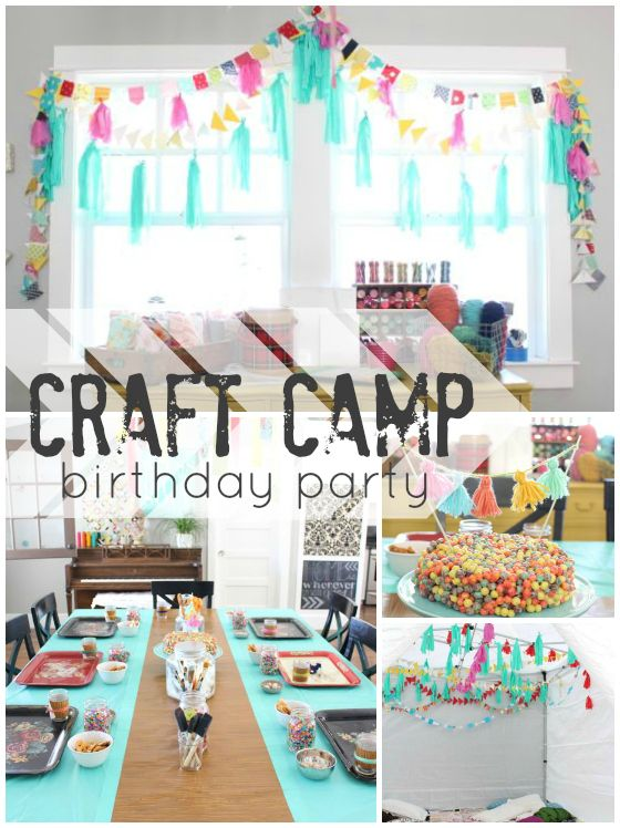Kids birthday party craft camp! great craft ideas for kids!!!