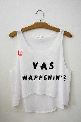 Vas Happenin One Direction Cropped Tank Top