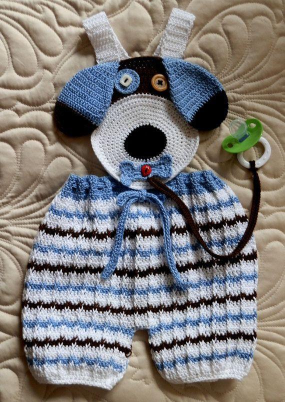 Baby Boy Crochet Pattern PDF 12mo Overall Shorts by SugarToeBabies, $5.00
