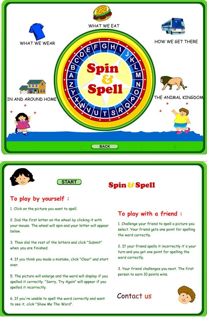 Spin & Spell:  Fun online game to practice spelling!  Great for interactive whit…