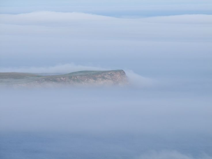 Sea fog rolling in from the North Sea