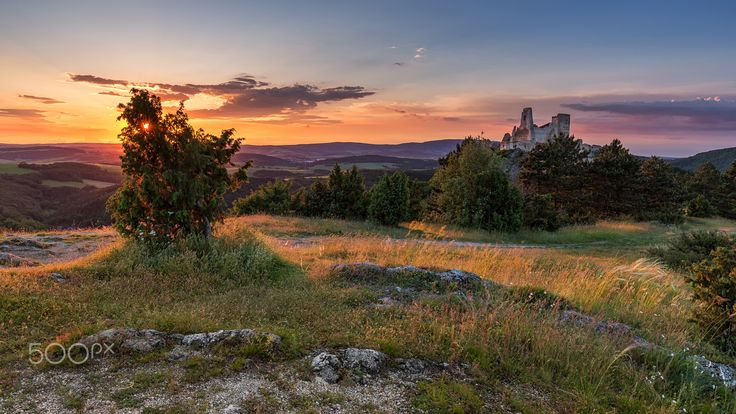 Sunset at Bathory Castle - null
