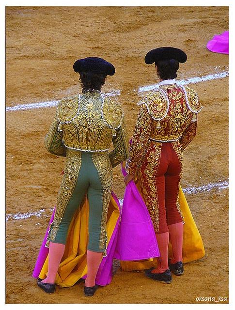 Bullfighters in Torremolinos, Municipality in Spain