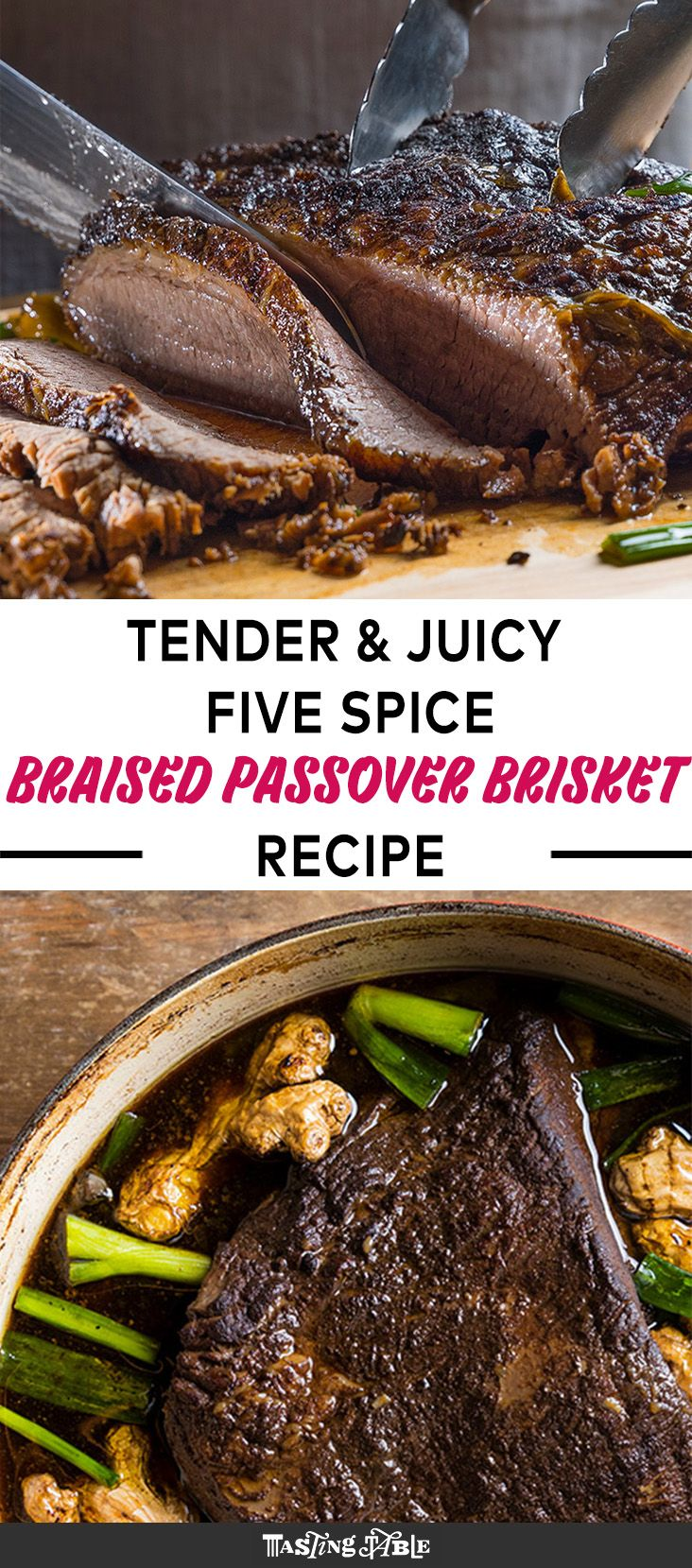 Pig and Khao's Leah Cohen combines her Jewish and Filipino heritages into a braised brisket recipe for Passover with five-spice and charred ginger.