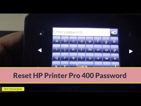 How Do I Reset My Hp Printer To Factory Settings