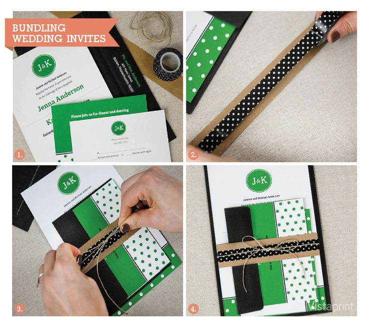 bundling wedding invitations diy vistaprint