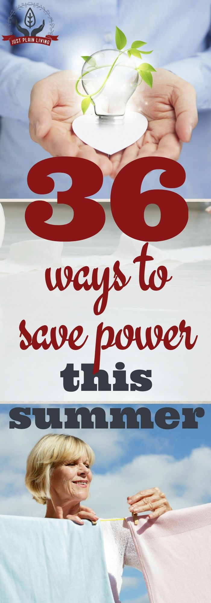 It is definitely possible to use less power even when it's hot outside. Check out these 36 ideas for lowering your power bill in the summer.