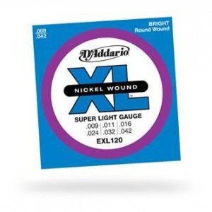D'Addario – EXL120 elettrica 009-042. per chitarra elettrica Scalatura .009 – .042