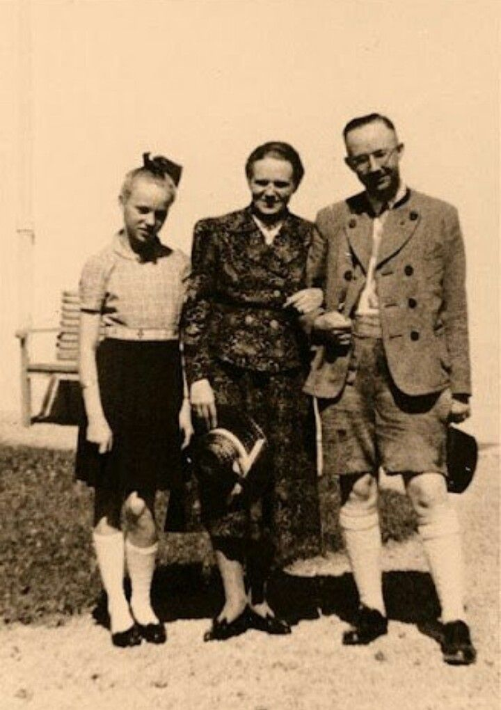 "Heinrich Himmler & his wife Margarete ""Marga"" Boden/Himmler with their daughter Gudrun"