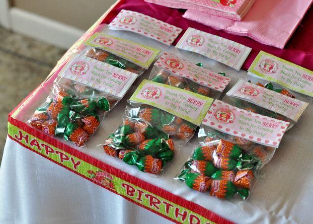 Strawberry Shortcake Birthday Party Treat Bags