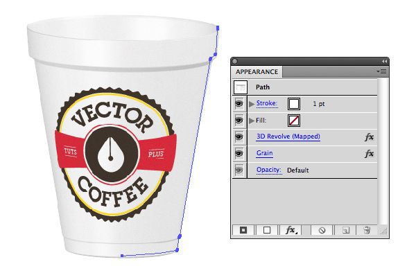 Create 3D packaging coffee cup using Illustrator 3D Revolve Effect  tutorials packaging   from the storeroom @ POTW